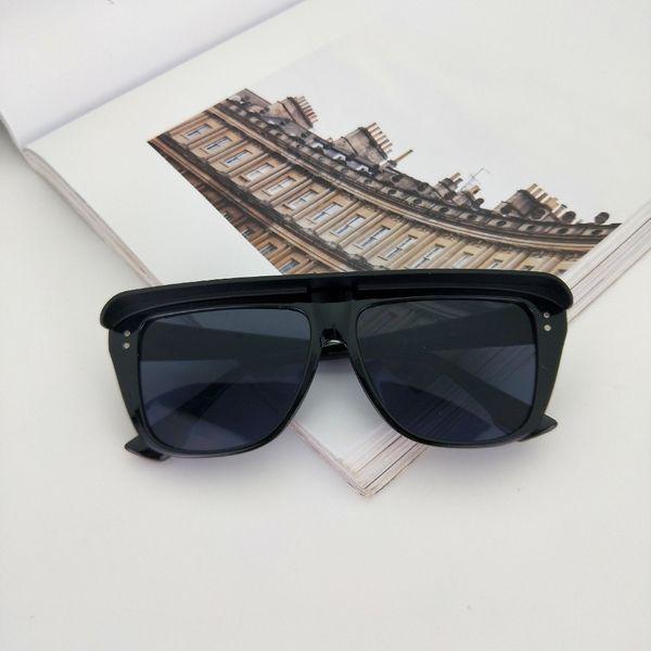 Brand Letter Sunglasses Women Men Fashion Luxury Designer Shades 2019 Newest Popular Designer Black Square Sunglasses Unisex