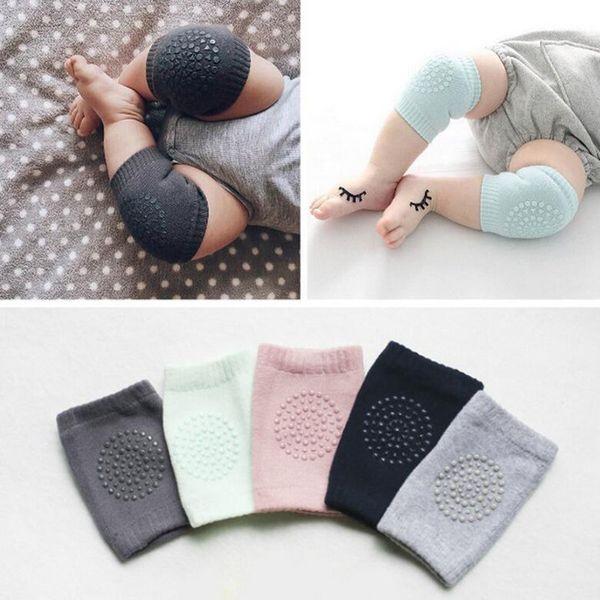 Malha macia do bebê aquecedores de perna criança crianças protetor de joelheira antiderrapante dispensar segurança rastejando bem joelheiras polainas para criança