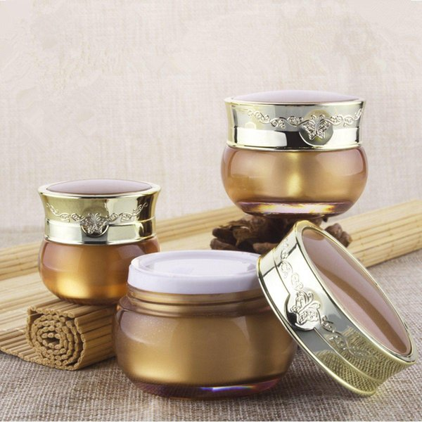 15g/30g Empty Cream Jar Plastic Acrylic Refillable Bottle Butterfly Pattern Makeup Pot Travel Face Lotion Cosmetic Container