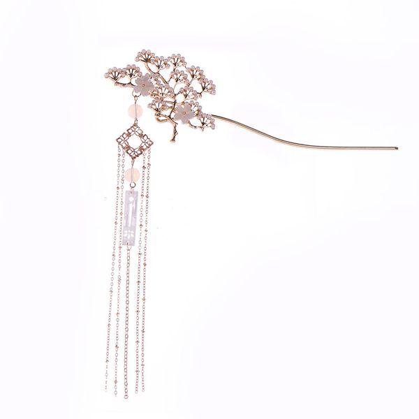 Estilo antigo borla acessórios para o cabelo Hanfu passo sacudindo a cabeça tiara antiga chaise princesa hairpin cabelo tiara