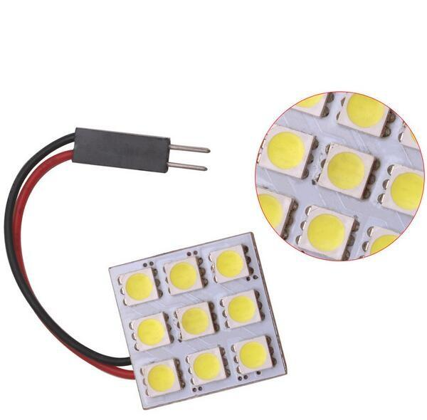 T10 BA9S Festoon Socket 5050 9SMD Car LED Dome Light Reading Panel Light 12V Car Reading Bulbs