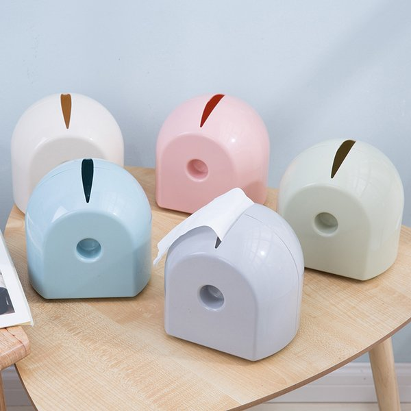 Simple Design Candy Color Paper Towel Pumping Paper Carton Roll Tissue Box