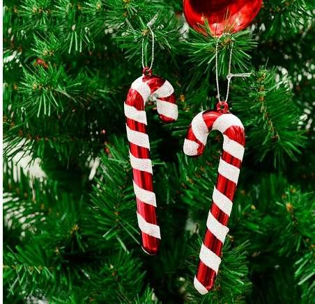 6 Pcs/lot Christmas Candy Cane Ornaments Festival Party Xmas Tree Hanging Decoration Christmas Decoration Supplies Big Discount