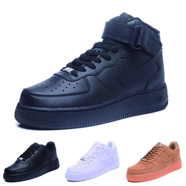 nike air force 1 one Um 1 Dunk Luxury Mens Calçados Casuais Chaussures Skate Preto Branco Laranja Trigo Mulheres Homens Alta Baixa Designer Trainer Plataforma Sneaker