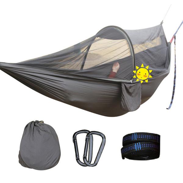 Acheter 2 Personnes Multiuse Portable Hamac Camping Survivor Hamac Avec  Moustiquaire Stuff Sac Balançoire Hamac Lit Tente Utilisez Meubles  D19011702 ...