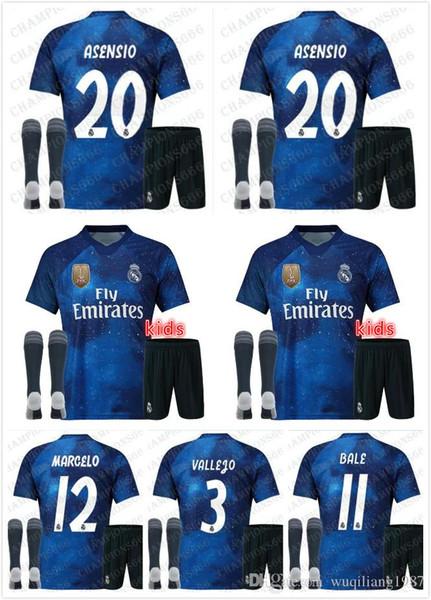 Großhandel 2019 EA Sports Real Madrid Spezial Kinder Kit Socken Fußballtrikots MODRIC SERGIO RAMOS KROOS BENZEMA Von Wuqiliang1987, $19.28 Auf