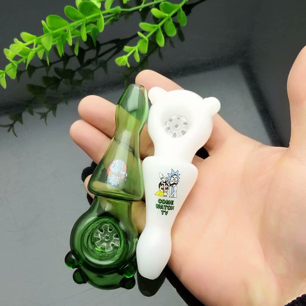 Coloured ear pipe Wholesale Glass Water Pipes Tobacco Accessories Glass Ash Catcher