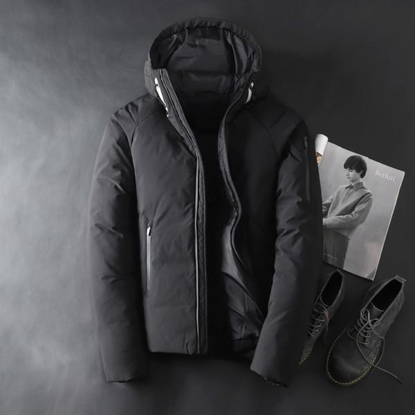 Hommes Veste Épaississement d'hiver Casual Soild Beau coupe-vent 90% duvet de canard blanc Veste chaude Pardessus neige hommes