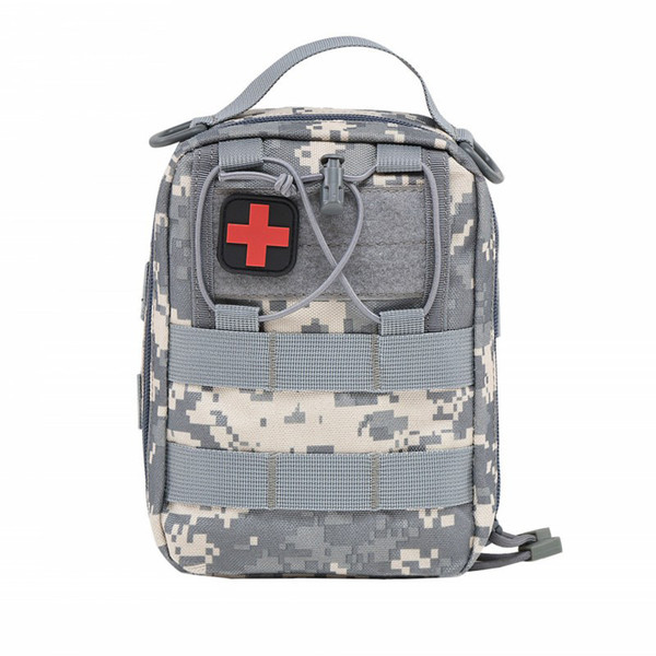 by DHL Emergency Kits Empty Bag with Strap Medical Car First Aid Kit Waist Pack 1000D Nylon 14* 20*8cm Outdoor Camping Tactical Molle Pouch