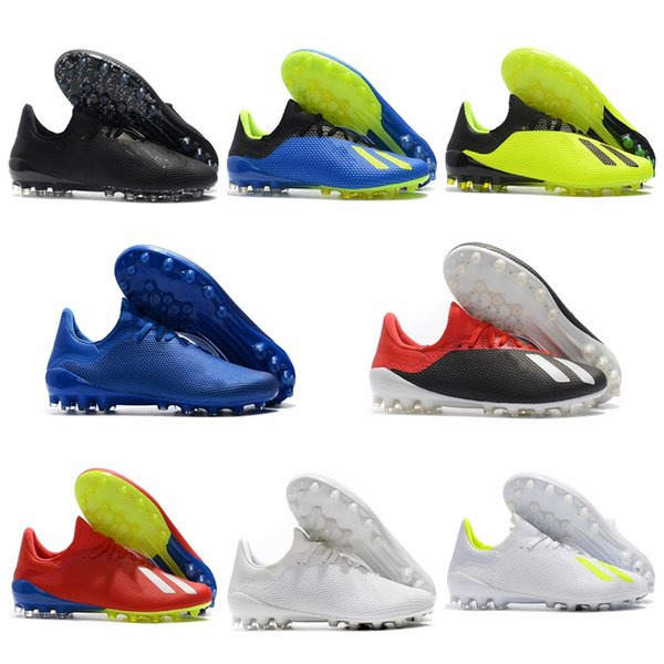 2018 leather soccer cleats x 18 AG soccer shoes mens football boots X 18.1 cheap scarpe da calcio blackout New arrival