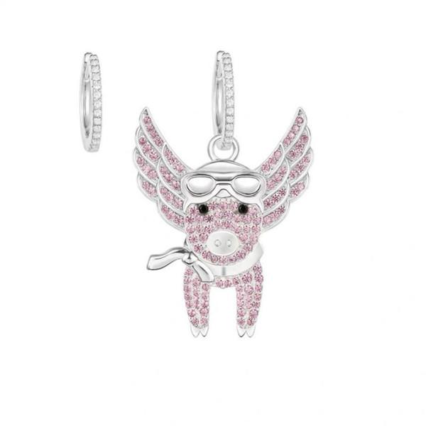 Qualité goujon élégant avec boule blanche matériel spécial femmes boucle d'oreille marque nom bijoux cadeau livraison gratuite Marque