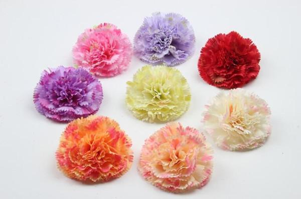Hand-simulated silk flower carnation, lilac flower head DIY garment, hat and shoes decoration Y003