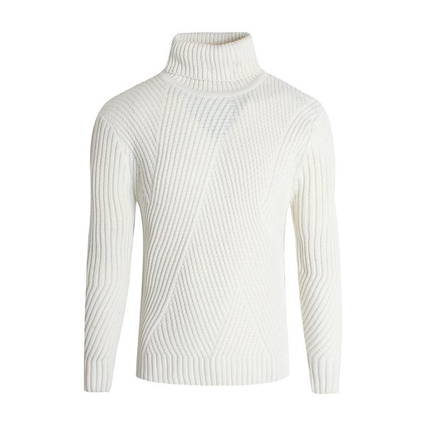 Men's high collar pure Korean version sweater Men's Lapel long sleeve thin bottom knitted sweater autumn and winter style