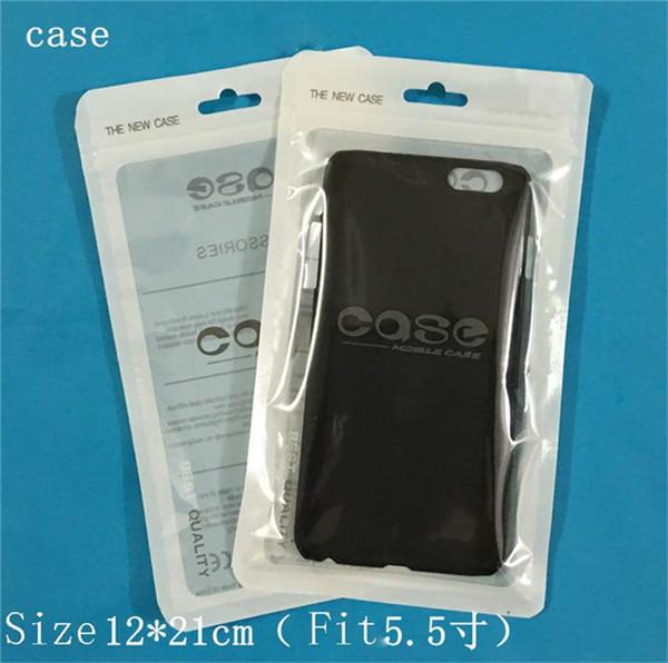 Universal Ziplock Tasche Klar Weiß Zip Lock Handy Fall Kopfhörer Paket Verpackung Beutel OPP PVC Plastiktüte für iphone 6 6 s 7 plus s5 s6