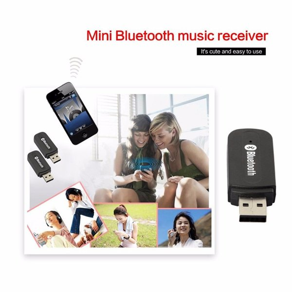 Bluetooth Car Adapter Receiver 3.5mm Aux Stereo Wireless USB Mini Bluetooth Audio Music Receiver For Smart Phone MP3 With Retail Package Hot