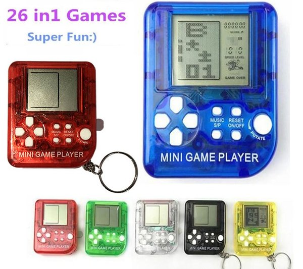 26 in 1 games Ultra-small mini Children handheld game console Portable LCD Players Children Toy Educational Electronic Toys classic