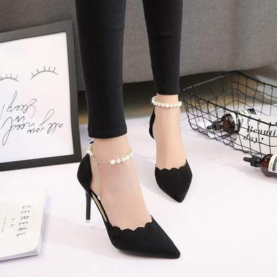 High-heeled shoes female fashion sexy hollow with sandals 2018 summer Korean version of the thin breathable shoes women Pumps #1