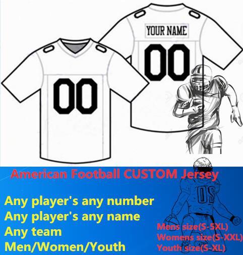 NUOVO Football americano CUSTOM Jersey Tutto 32 Team Personalizzato Qualsiasi Nome Qualsiasi Numero Taglia S-6XL Ordine Mix Uomo Donna Bambino Bambini Cucito