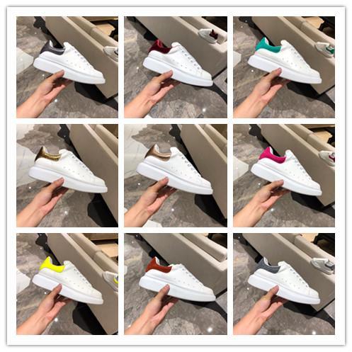 [С коробкой] 2019 Женская повседневная обувь из натуральной кожи. Большие кроссовки