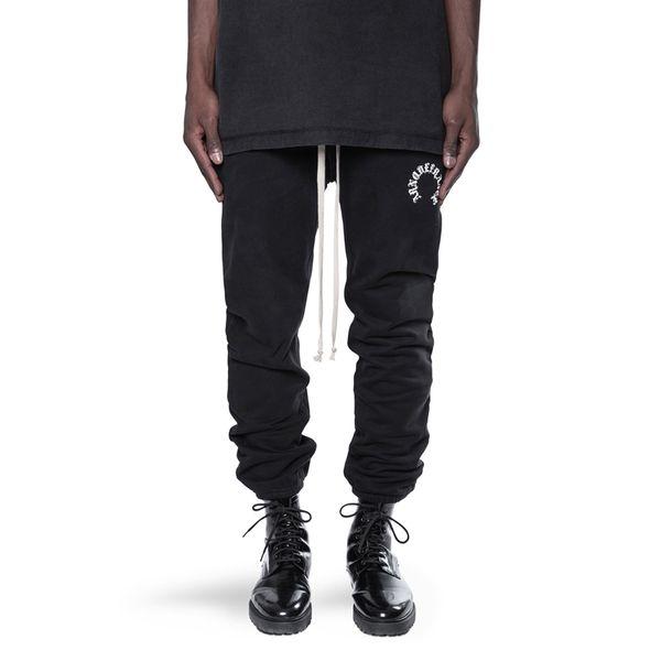 ARNODEFRANCE ADF19 Pantolon Siyah İpli Pantolon Sweatpants Vintage Sokak Rahat Erkek Kadın Rahat Spor Pantolon HFHLKZ019
