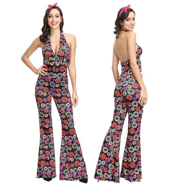 Compre Costumes Das Senhoras Dos Anos 80 Retro Hippie Go Go Girl Disco Costume Party Carnaval Adultos Conjuntos Femininos Vintage Roupa Do Dia Das