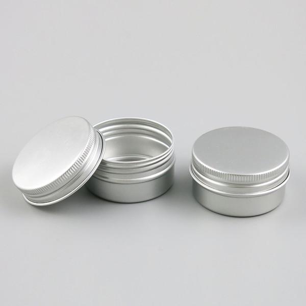 100 x scatolette 30g metallici caramella alluminio bagno in polvere vasetti di sale d'argento cosmetico viaggi imballaggio contenitore 30ml 1oz