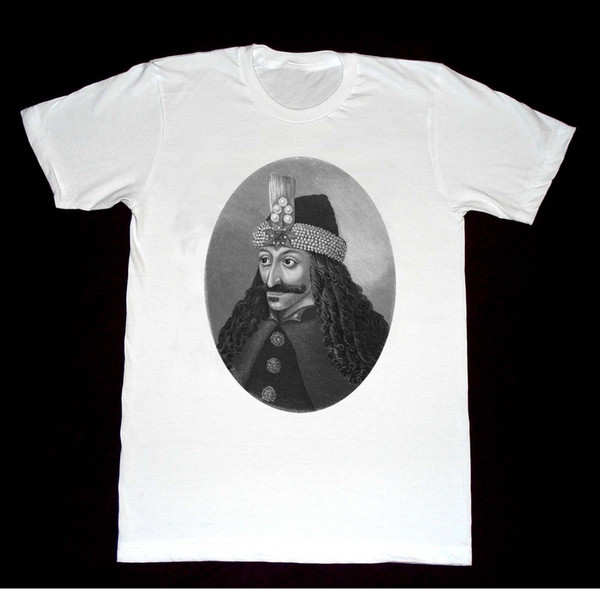 Vlad Impaler 16th Century Portre Gömlek 30 Tshirt Dracula Vampir Kaliteli Yüksek tişört komik Marka gömlek