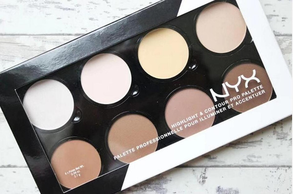 Evidenziatori caldi NYX Highlight Contour Pro Palette professionnelle pour illuminer et accenture 8 colori Shadow Face Foundation