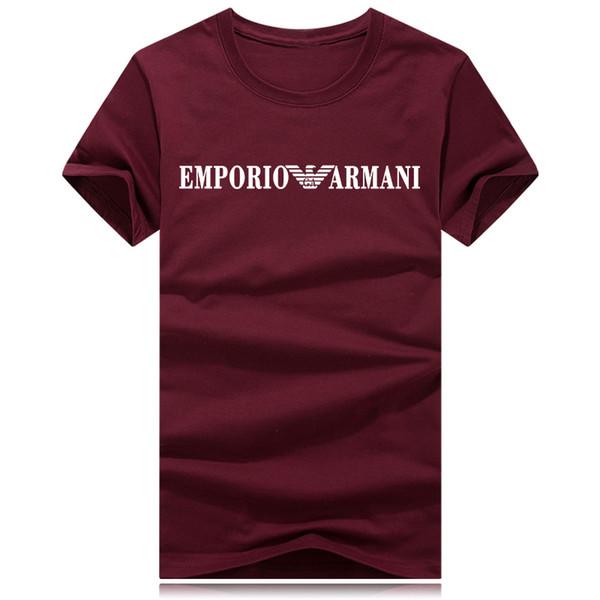 Los hombres del verano camiseta nueva camiseta impresa manga corta de algodón hombres camisetas top tees alta calidad