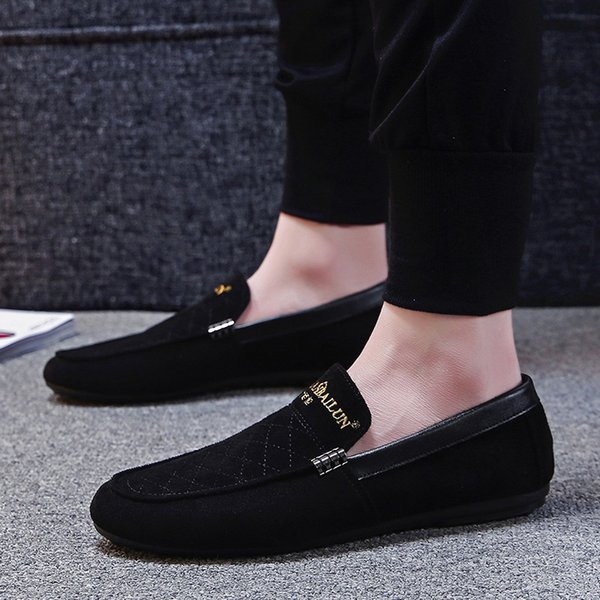 2019 New Men'S Casual Shoes Peas Shoes A Pedal Embroidery Trend Men'S Peas Driving Best Shoes Italian Shoes From Dusala, $28.65| DHgate.Com