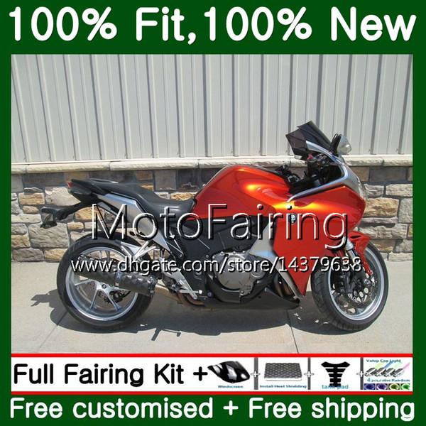 Injection Pour HONDA VFR1200RR VFR 1200 RR 10 11 12 13 66MF5 Gloss orange VFR-1200 VFR 1200RR VFR1200 2010 2011 2012 2013 Carénage de carénage