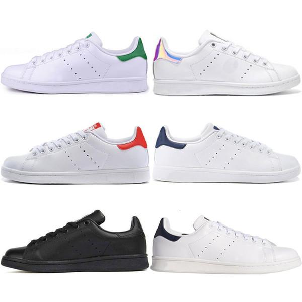 Yeni Tasarımcı Stan Lüks ayakkabılar moda smith kız yeşil siyah kırmızı bule gündelik deri spor ayakkabı ayakkabı boyutu 36-45 womens mens