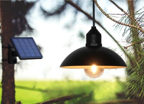 2019 Solar Powered Pendant Light Retro Lampshade Bulb Solar Panel Lamp With 3 Meters String Outdoor Hanging Solar Light For Garden From Wangqin8868