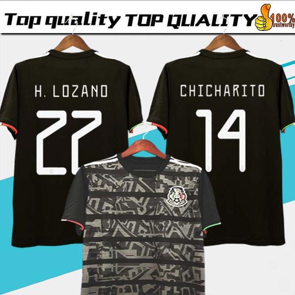 d02e3952d6a Mexico 2019 GOLD CUP Black KIT Soccer Jerseys 2018 World Cup Home Away  CHICHARITO Camisetas de futbol C.VELA H.LOZANO G.DOS SANTOS Shirts
