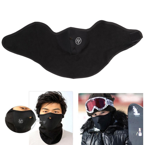 Fleece Balaclavas Ski Cycling Half Face Mask Cover Outdoor Sport Windproof Neck Guard Scarf Headwear Neoprene Masks