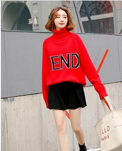 19 late t luxury de igner long leeved weater autumn and winter fa hion brand hoodie knitted weater women ca ual o neck pullover, White;black