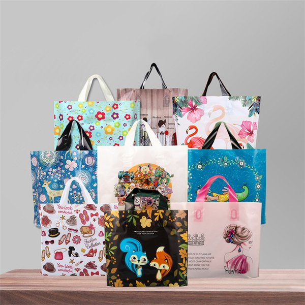 Holiday gift special hand-held thickened gift bags new shopping bags 50 festive party gift Packing bag T3I5118