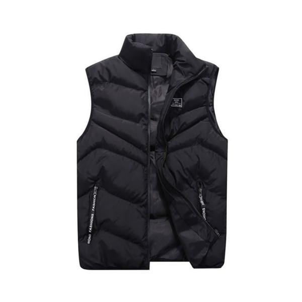 Plus Size Mens Sleeveless Vest Jacket Winter Autumn Fashion Casual Slim Coat Men\'s Solid Zipper Pockets Vest Men Waistcoat