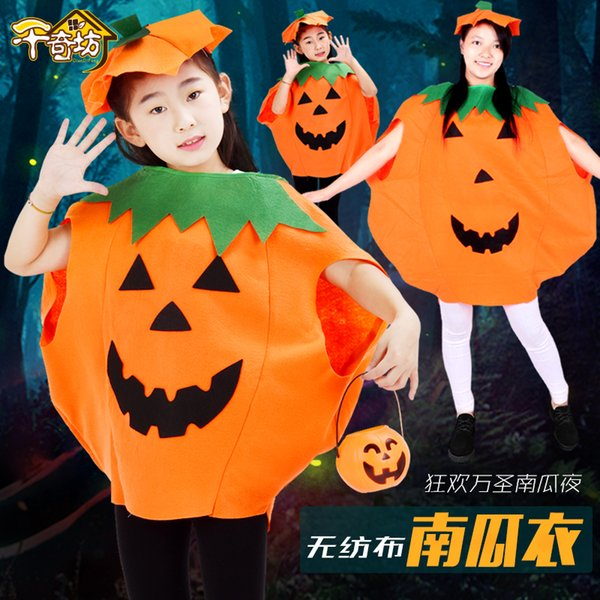 Hot Sale Kids Halloween Costumes Cartoon Pumpkin Cute Outfit Microfiber Hat Special Party Baby Rompers Lovely Kids Suit Drop Shipping Halloween