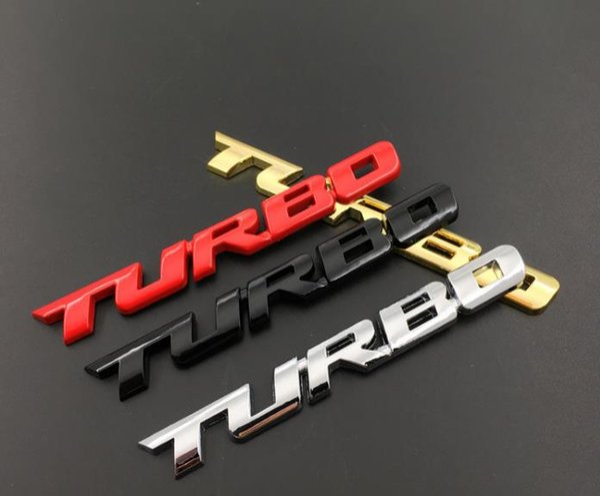 New 3D Car Styling Adesivo Metal TURBO Emblema Bagageira Parte Traseira Do Crachá Para Ford Focus 2 3 ST RS Fiesta Mondeo Tuga Ecosport Fusão