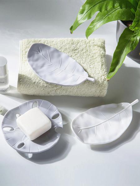 Creative Portable Leaf Drain Soap Box Portable Outdoor Travel Soap Dishes Bathroom Soap Holder Case Bathroom Supplies