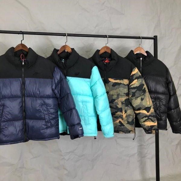 Lüks Erkek Tasarımcı Coat Yapraklar Baskı Parka Kış Ceket Erkekler Kadınlar Kış Tüy Palto Ceket Aşağı Ceket Kaban Ücretsiz Kargo