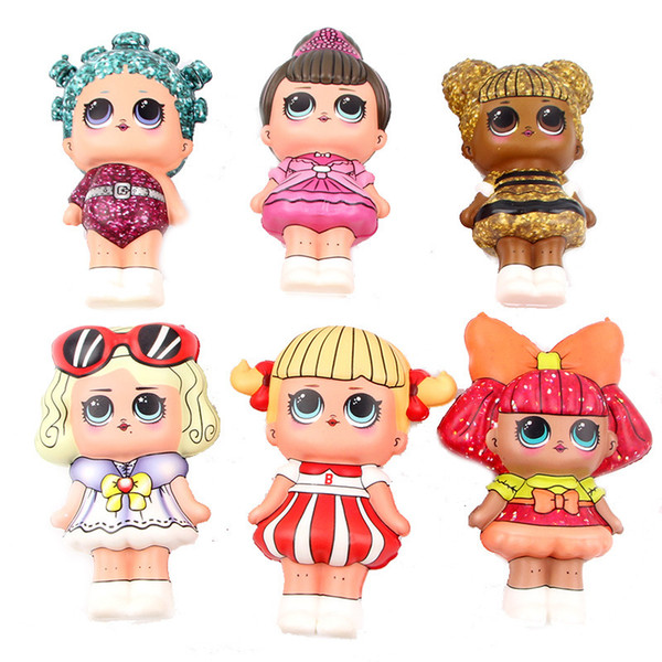 Surprise Baby Girls Squishy Toys Slow Rebound Squishies Decompression Toys Surprise Dolls Kids Squeeze Toys Kawaii Gifts