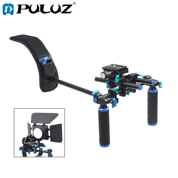 PULUZ YLG0102H DSLR Rig Dual Handles Free Shoulder Mount Kit For Micro Film Camera Video Camcorder