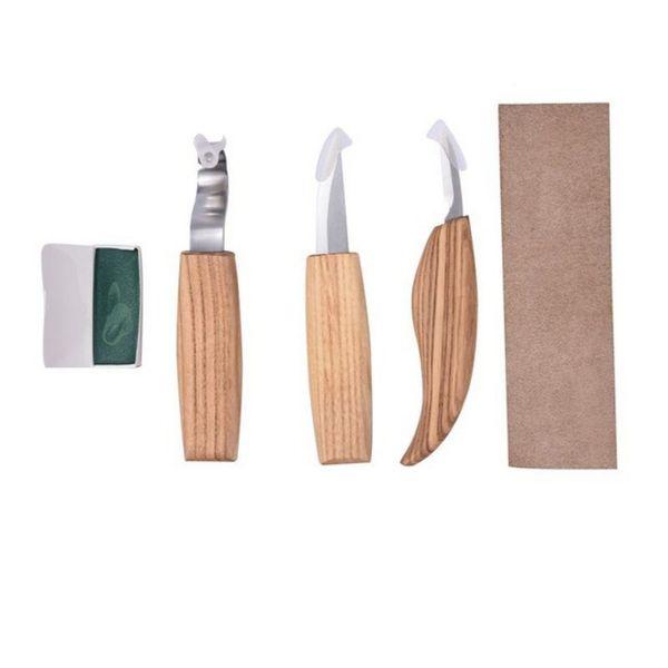 Cuchillo Cuchillo para Herramienta de tallado en madera Cortador torcido Gancho