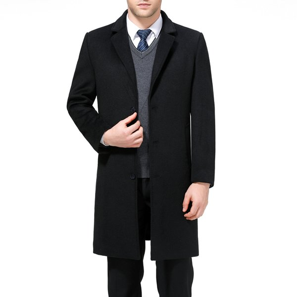 70f71d829cd1 Mu Yuan Yang X-Long Jackets & Coats Single Breasted Casual Mens Wool Blend  Jackets Full Winter For Male Wool Overcoat 3XL 4XL