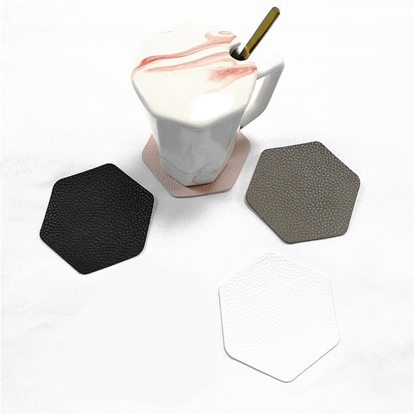 Coasters for Drinks Leather Coasters with Holder Protect Furniture from Damage Leather Round Bar Coaster Table Cup Holder Drink