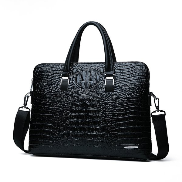 Leather Business Briefcase Laptop Bag Shoulder Bags Cross-body Bag for Men & Women Carry On Handle Case for Computer/Notebook/MacBook