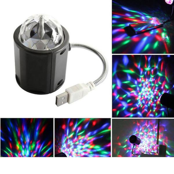Lámpara de iluminación USB luz de escenario blanco RGB color escenario portátil música ligera Iluminación de escenario láser Fiesta Club de bodas DJ iluminación de discoteca