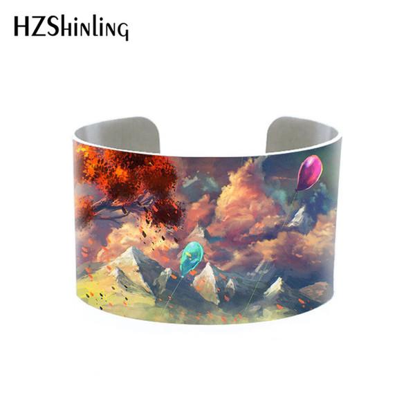 HZSHINLING Antiquity 2020 estilo de pintura Bangle Pulseiras Jóias alumínio ajustável Bracelet caçoa o presente Moda jóias atacado